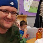 Tyler Roberts volunteering
